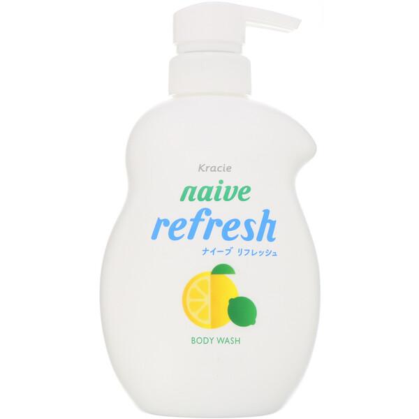 Naive, Body Wash, Refresh, 17.9 fl oz (530 ml)
