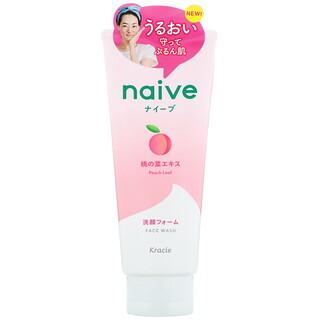 Kracie, Naive, Face Wash, Peach, 4.5 oz (130 g)