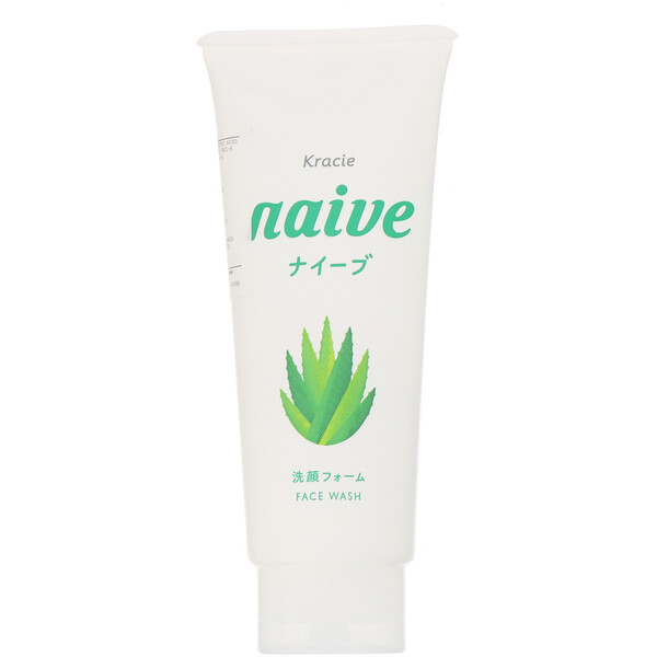Kracie, Naive, Face Wash, Aloe, 4.5 oz (130 g) (Discontinued Item)