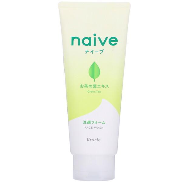 Naive, Jabón líquido para el rostro, Té verde, 130g (4,5oz)