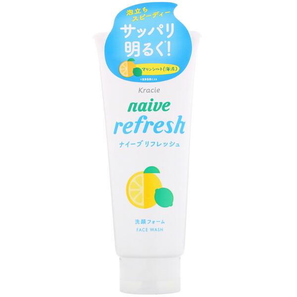 Kracie, Naive, sabonete facial, refrescante, 130 g (Discontinued Item)
