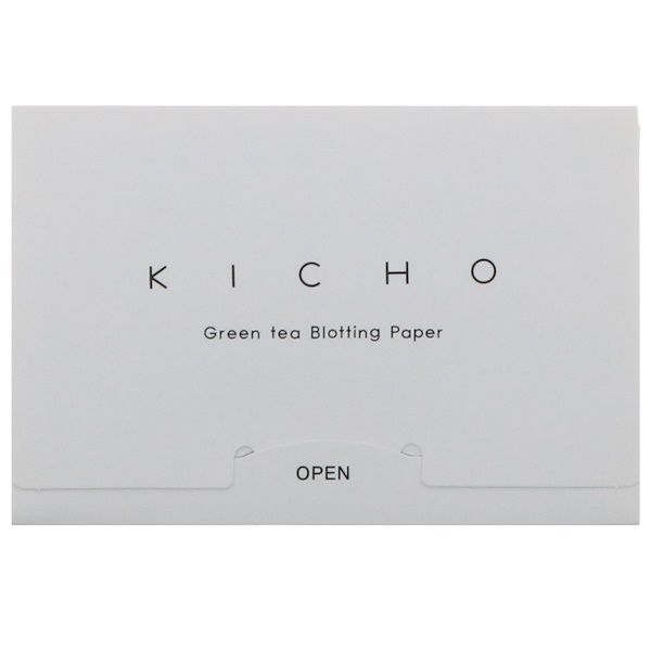 Kicho, Green Tea Blotting Paper, 50 Pieces