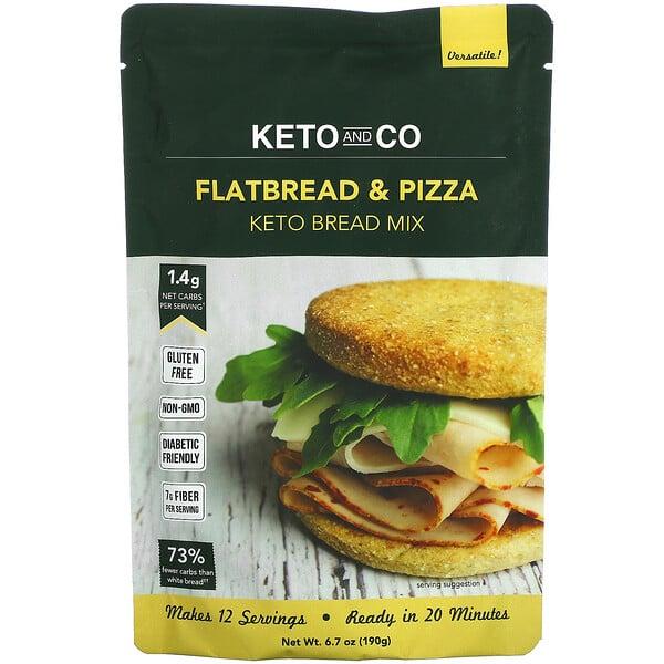 Keto and Co, Flatbread & Pizza, Keto Bread Mix, 6.7 oz (190 g)