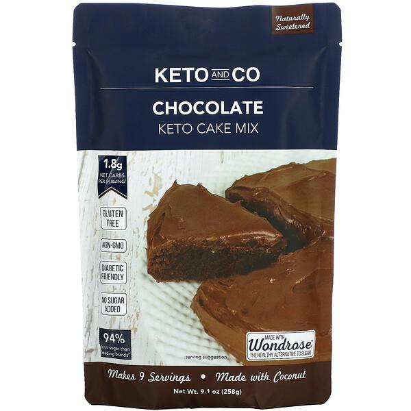Keto Cake Mix, Chocolate, 9.1 oz (258 g)