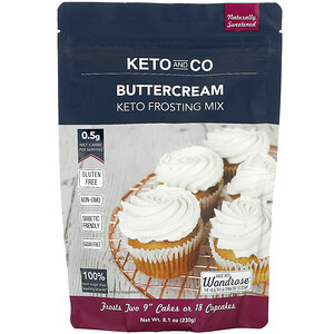 Keto and Co, Keto Frosting Mix, Buttercream, 8.1 oz (230 g)'