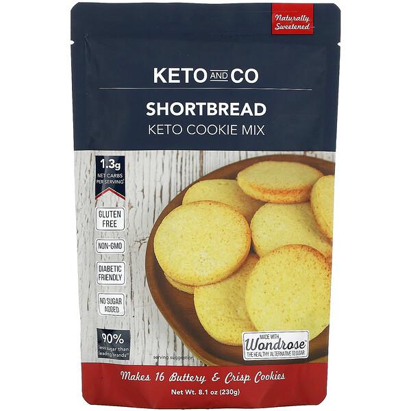 Keto and Co, Shortbread, Keto Cookie Mix, 8.1 oz (230 g)