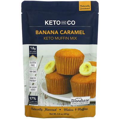 Keto and Co Banana Caramel, Keto Muffin Mix, 8.8 oz (251 g)
