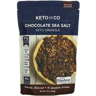 Keto and Co, Keto Granola, Chocolate Sea Salt, 10 oz (285 g)