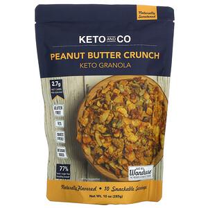 Keto and Co, Keto Granola, Peanut Butter Crunch, 10 oz (285 g)