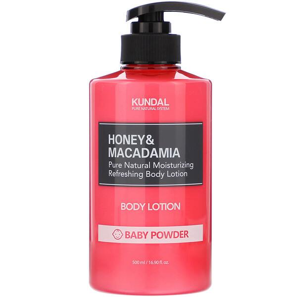 Kundal, Honey & Macadamia, Body Lotion, Baby Powder, 16.90 fl oz (500 ml)