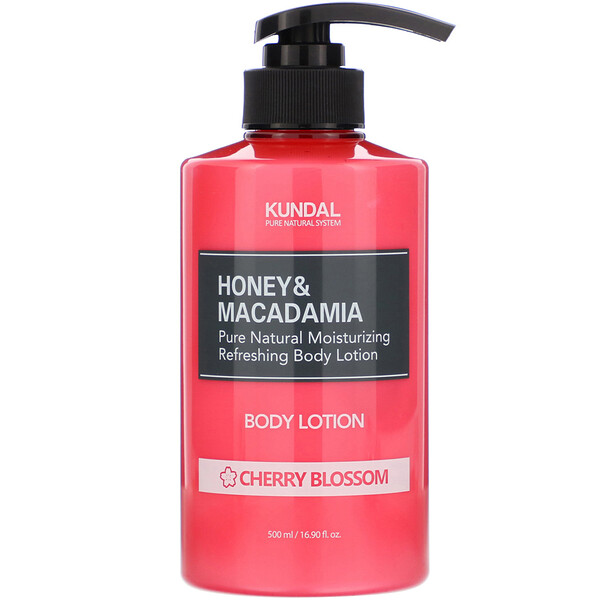 Honey & Macadamia, Body Lotion, Cherry Blossom, 16.90 fl oz (500 ml)