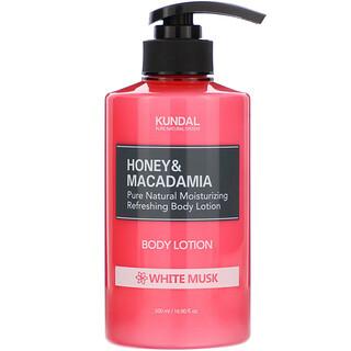Kundal, Honey & Macadamia, Body Lotion, White Musk, 16.90 fl oz (500 ml)
