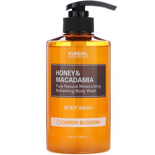Kundal, Honey & Macadamia, Body Wash, Cherry Blossom, 16.90 fl oz (500 ml)