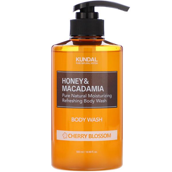 Honey & Macadamia, Body Wash, Cherry Blossom, 16.90 fl oz (500 ml)