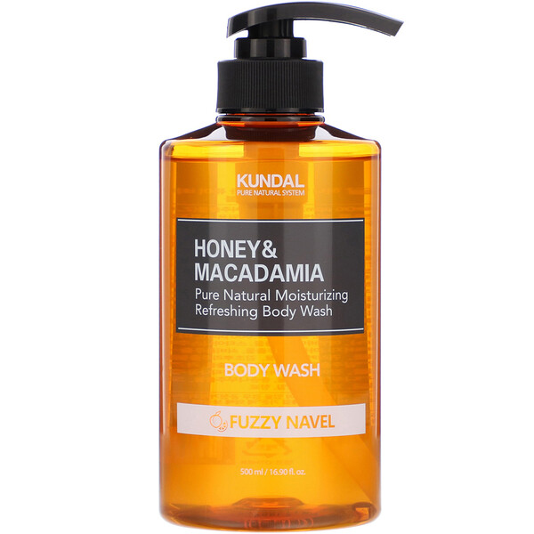 Honey & Macadamia, Body Wash, Fuzzy Navel, 16.90 fl oz (500 ml)