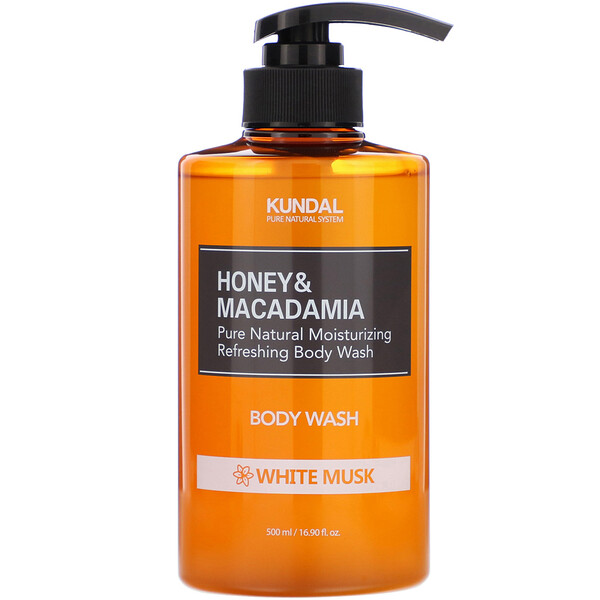 Honey & Macadamia, Body Wash, White Musk, 16.90 fl oz (500 ml)