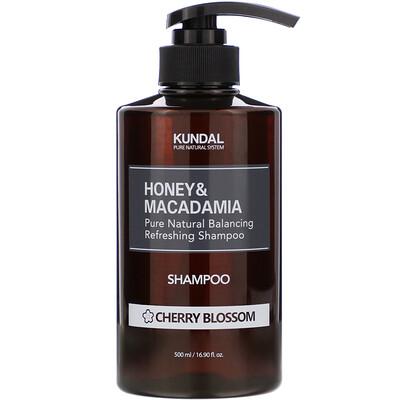Купить Kundal Honey & Macadamia, Shampoo, Cherry Blossom, 16.90 fl oz (500 ml)