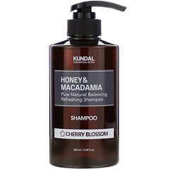 Kundal, 蜂蜜澳洲堅果洗髮水,櫻花香,16.90 液量盎司(500 毫升)