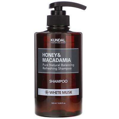 Купить Kundal Honey & Macadamia, Shampoo, White Musk, 16.90 fl oz (500 ml)