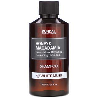 Kundal, Honey & Macadamia, Shampoo, White Musk, 3.38 fl oz (100 ml)