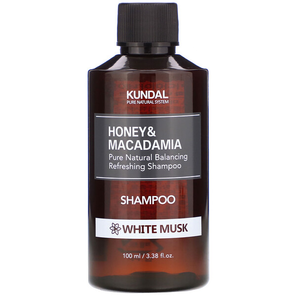 Honey & Macadamia, Shampoo, White Musk, 3.38 fl oz (100 ml)