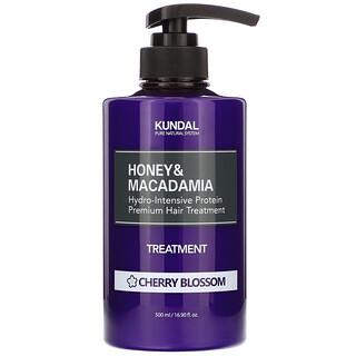 Kundal, 蜂蜜澳洲堅果護髮素,櫻花香,16.90 液量盎司(500 毫升)