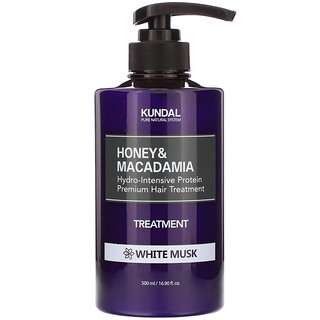 Kundal, Honey & Macadamia, Treatment, White Musk, 16.90 fl oz (500 ml)