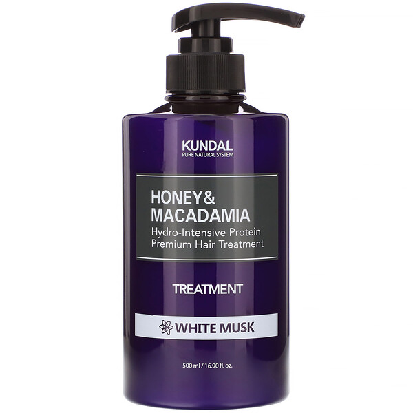 Kundal, Honey & Macadamia, Treatment, White Musk, 16.90 fl oz (500 ml)