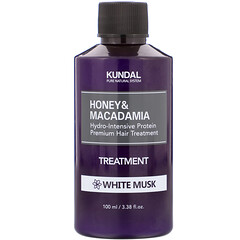 Kundal, 蜂蜜澳洲堅果護髮素,白麝香,3.38 液量盎司(100 毫升)