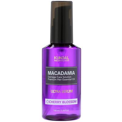 Kundal Macadamia, Ultra Serum, Cherry Blossom, 3.4 fl oz (100 ml)