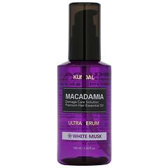Kundal, 澳洲堅果高級護髮精華,白麝香味,3.38 液量盎司(100 毫升)