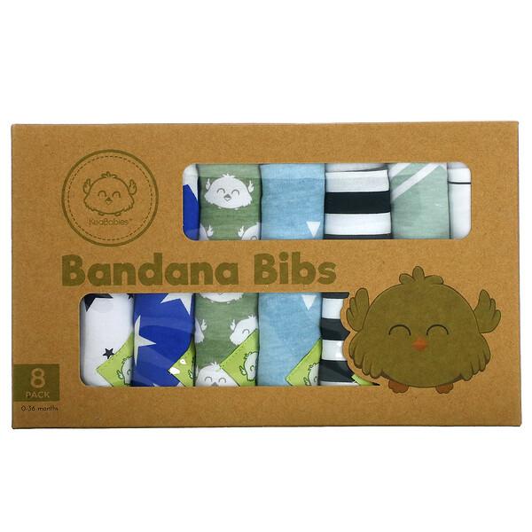 Bandana Bibs, 0-36 Months, Adventurer, 8 Pack
