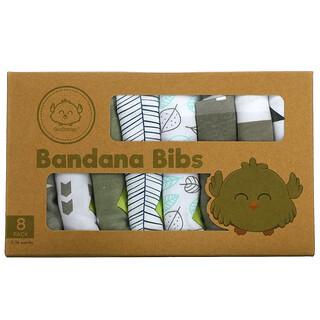 KeaBabies, Bandana Bibs, 0-36 Months, GrayScape, 8 Pack