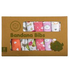 KeaBabies, Bandana 圍兜,0-36 個月,Pink Dreams,8 包