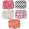 KeaBabies, Organic Burp Cloths, Pink Dreams,  5 Pack
