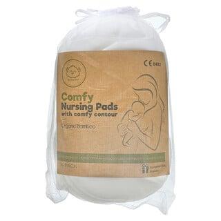 KeaBabies, Comfy Nursing Pads With Comfy Contour, Soft White, 14 Pack