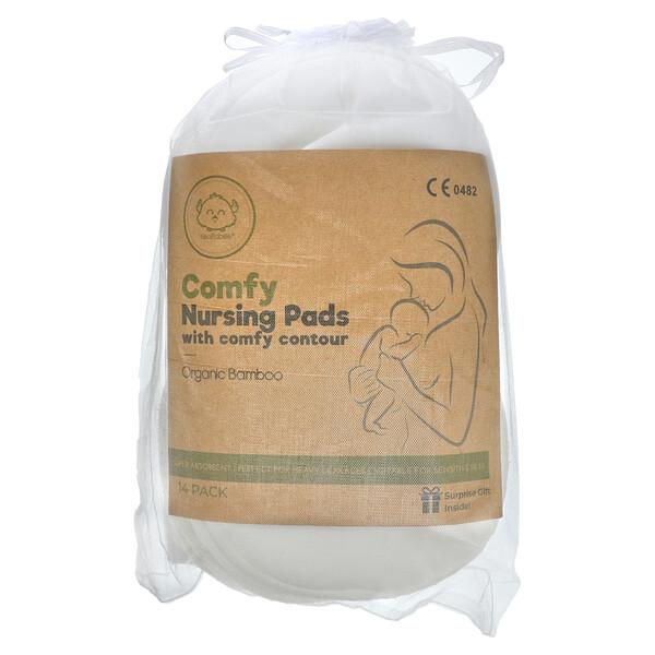 Comfy Nursing Pads With Comfy Contour, Soft White, 14 Pack