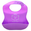 KeaBabies, Baby Silicone Bibs, Cotton Candy, 2 Pack