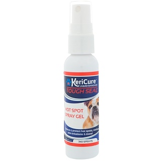 KeriCure, Tough Seal, Hot Spot Spray Gel for All Pets, 2 fl oz (55 ml)