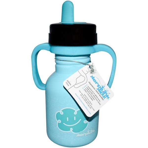 Kerplunk, Stainless Steel Bottle, Cloud Sippy, 12 oz (350 ml) (Discontinued Item)