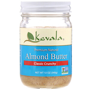 Кевала, Almond Butter, Classic Crunchy, 12 oz (340 g) отзывы покупателей