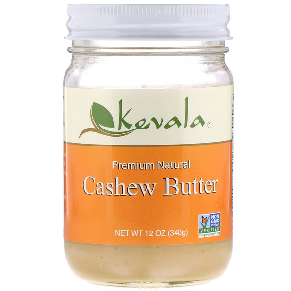 Premium Natural Cashew Butter, 12 oz (340 g)
