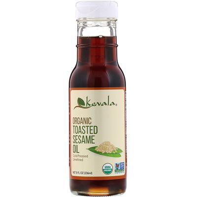 Купить Kevala Органическое темное кунжутное масло, 8 жидких унций (236 мл)