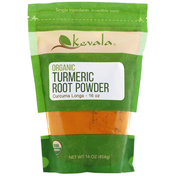 Kevala, Organic Turmeric Root Powder, 16 oz (454 g)