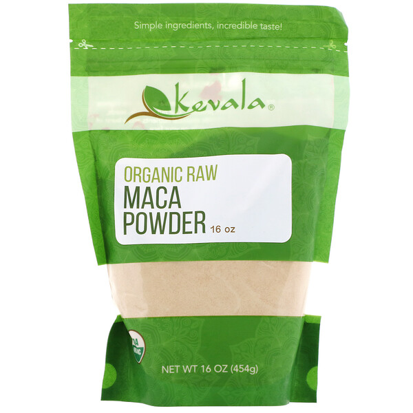Kevala, Organic Raw Maca Powder, 16 oz (454 g)