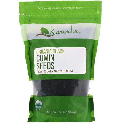 Купить Kevala Органические семена черного тмина, сырые, 454г (16унций)