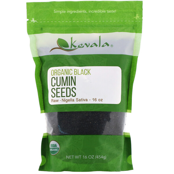 Kevala, Organic Black Cumin Seeds, Raw, 16 oz (454 g)