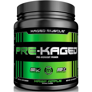 Kaged Muscle, Pre-Kaged, Pre-Workout Primer, Krisp Apple, 1.37 lbs (621 g)