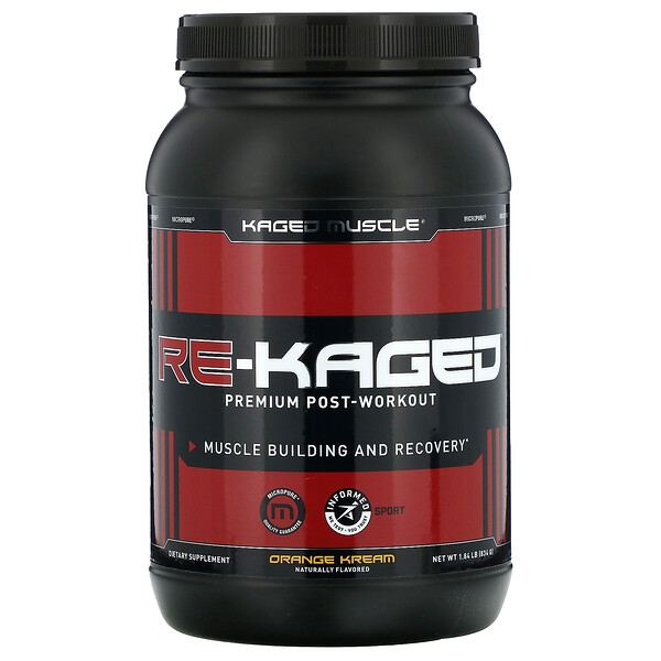 Kaged Muscle, Re-Kaged, Premium Post-Workout, Orange Kream, 1.84 lb (834 g)