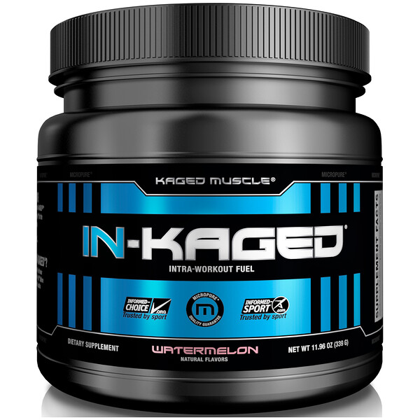 IN-KAGED, Intra-Workout Fuel, Watermelon, 11.96 oz (339 g)